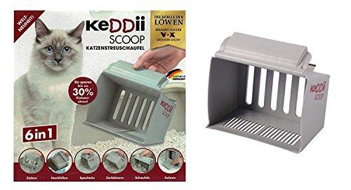 KeDDii Scoop 02227 XL Katzenstreuschaufel | Streuschaufel Siebgröße Anpassbar (Katzentoilette/Katzenklo) | Bis Zu 10x Mehr Volumen Als Übliche ()