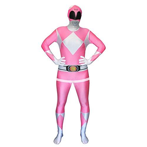 Morphsuits Adulti ufficiali Rosa Traje de Power Ranger - X-Grande 5'10 - 6'1 176cm - 185cm