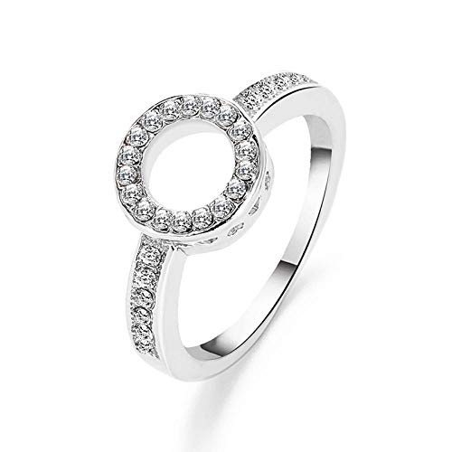 LD Crystal Engagement Claw Design Female Ring AAA White Zircon Cubic Elegant Ring Female Jewelry Wedding