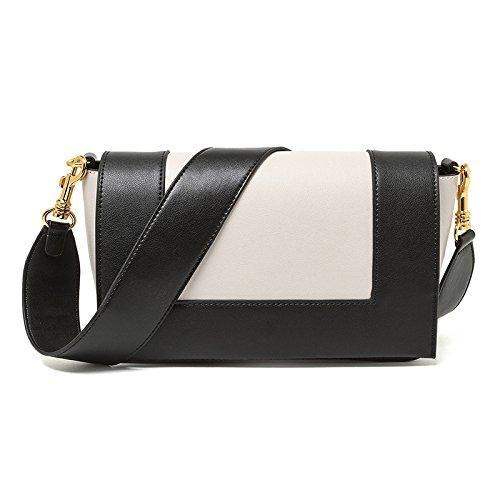 Mefly Single Shoulder Bag Lady Fashion Farbe Black matches white