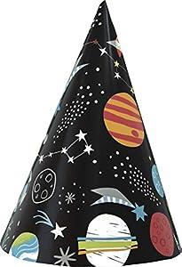 Unique Party 73271 - Sombreros de fiesta, color gris