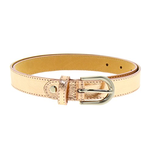 Fashiongen Damen Ledergürtel 2,50 cm LUNA - Golden Rosa gold, 75