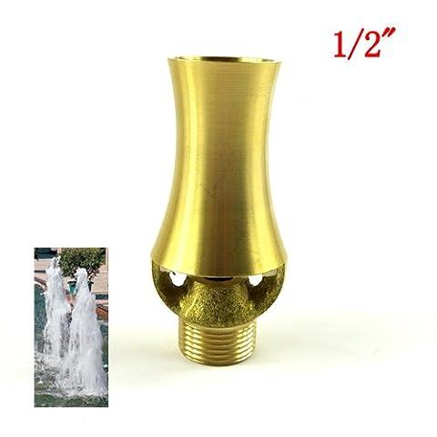 "NAVADEAL 1/2"" DN15 & 3/4"" DN20 Brass Cascade Water Fountain Nozzle Spray Sprinkler Head"