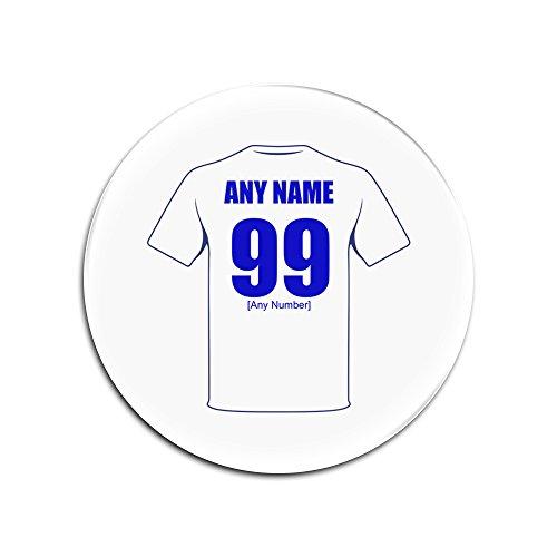 unigift Personalisiertes Geschenk-Leeds United Glas Rund Untersetzer (Football Club Design Thema, Farbe Optionen)-Alle Nachricht/Name auf Ihre Einzigartige-weißen, Pfauen