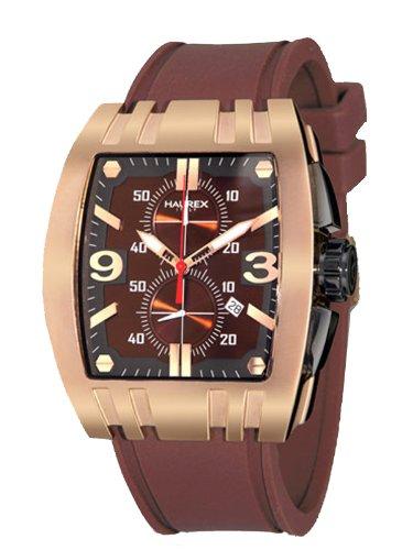 HAUREX ITALY 3r326umn Homme Mangusta chronographe Cadran Marron montre