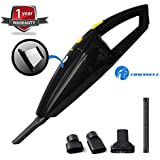 Tirewell TW9001 Car Vacuum Cleaner with HEPA Filter 120W 12V Wet Dry Portable Handheld Auto Cleanser with 3 Connectors