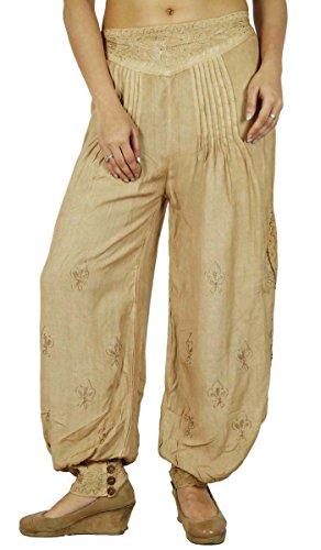 Casual Boho Gypsy Harem Aladdin Yoga Pants Pantalons femmes Beige-2