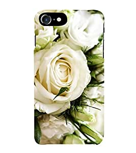 Fiobs Designer Back Case Cover for Apple iPhone 7 Plus (Rose Flowers Floral Ful Red Gulaab Aroma Smell)