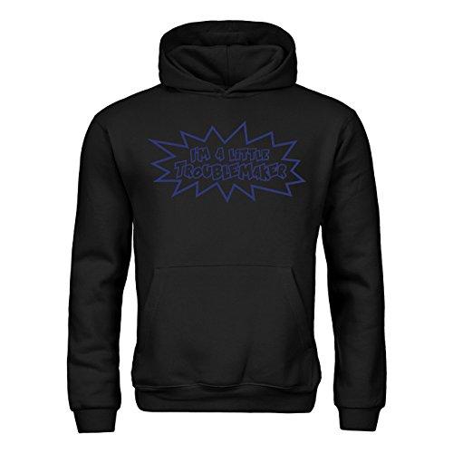 Kapuzensweatshirt I'm a little troublemaker 20drpt15-kh00989-85 Textil black / Motiv violett Gr. 152/164 (Little Black Dress Kostüm)