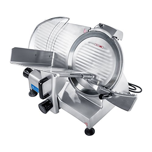 Royal Catering – RCAM 250PRO – Meat Slicer – 0 to 12 mm – 180 W – Ø 25 cm – semi automatic sharpener – PRO Series