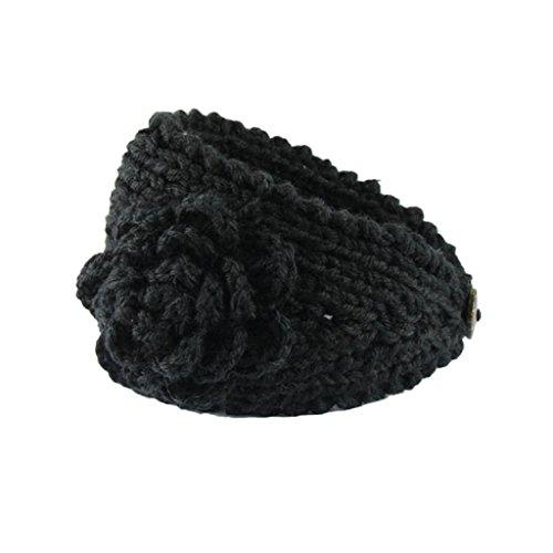 Vovotrade Mujeres tricotan la venda del pelo (A)