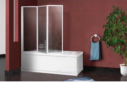 Parete sopra vasca pieghevole a libro 3 pannelli acrilico 180/181 cm G13