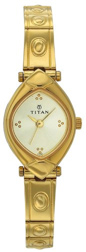 Titan Karishma Analog Champagne Dial Women's Watch - NE2417YM02