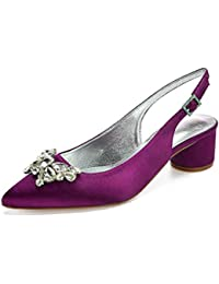 Mujer Zapatos Violetas Para Amazon es Sandalias 35 W7SSHP
