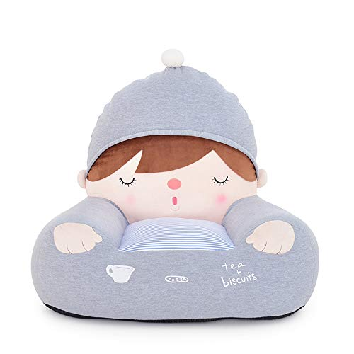 KADONNY Plüsch-Kindersessel Kind Baby Kuschel-Sessel Sofa Sessel Kindersofa Babysessel Kindermöbel,Gray
