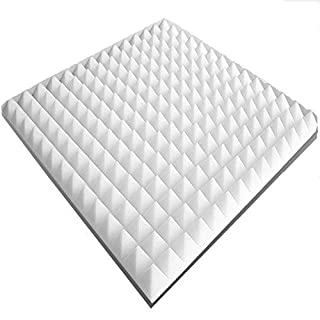 20 Akustikschaumstoff-Platten ca. 50x50x3cm, Weiss, ca. 5 m², Pyramidenschaumstoff, Noppenschaumstoff