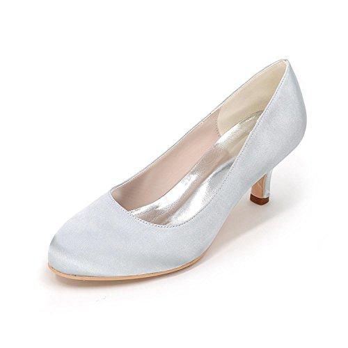 L @ yc Femmes Chaussures À Talons En Soie Big Yards Chaussures De Fête De Mariage Multicolore Robe De Mariage 4852 Argent