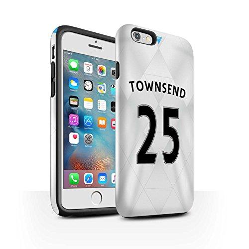 Offiziell Newcastle United FC Hülle / Glanz Harten Stoßfest Case für Apple iPhone 6S+/Plus / Pack 29pcs Muster / NUFC Trikot Away 15/16 Kollektion Townsend