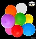 50 Globos Luminosos con Bombillas de Luz LED – Accesorio de Decoración para Fiesta – Iluminación Parpadeante Impermeable – Articulo Decorativo – Luces para Celebración de Boda, Eventos Especiales y Mas – Colores Surtidos