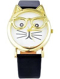 mjartoria Mujer Reloj De Pulsera Reloj de cuarzo bisutería de pulsera de piel Diseño de moda