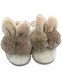 e189c44c4 YANRR Bebé Zapatos otoño e Invierno algodón Pantuflas Peluche Conejo Orejas  Inicio niños Zapatos a Alumnos
