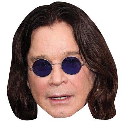 Ozzy Osbourne Maske aus Pappe (Osbourne Ozzy Kostüme)
