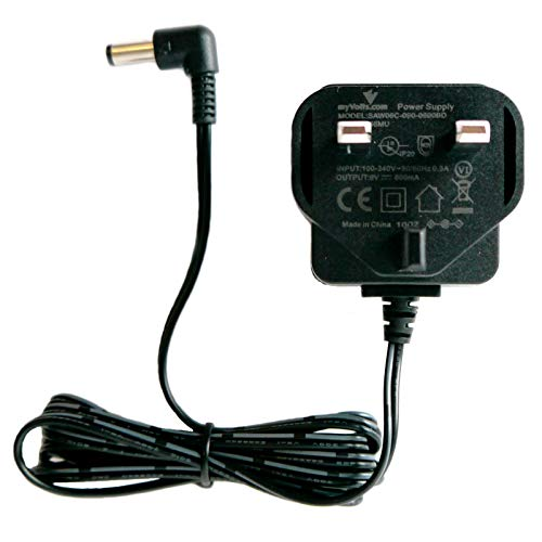 Price comparison product image MyVolts 9V power supply adaptor compatible with Dunlop Cry Baby Wah Effects pedal - UK plug