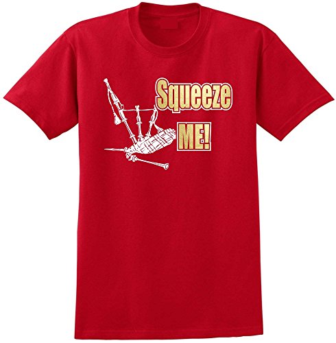 Bagpipe Squeeze Me - Red Rot T Shirt Größe 87cm 36in Small MusicaliTee