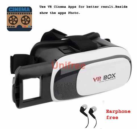Unifree 2nd Generation VR Headset Virtual Reality 3D Glasses Google Cardboard VR Box Adjustable 4.6 ~ 5.5 Inch Screen Phones