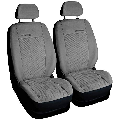 Universal Sitzbezüge Grau Vordersitze 1+1 Schonbezüge Sitzbezug Autositz Bezug