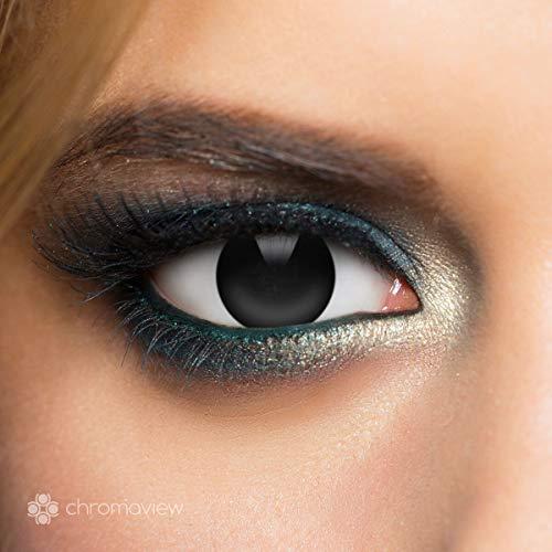 Kontaktlinse Schmuck - Chromaview Black Out Fashionlinse