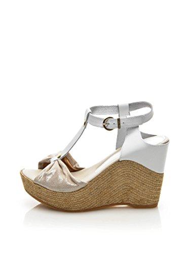 KEYS 4879 Sandales compensées Femmes Blanc