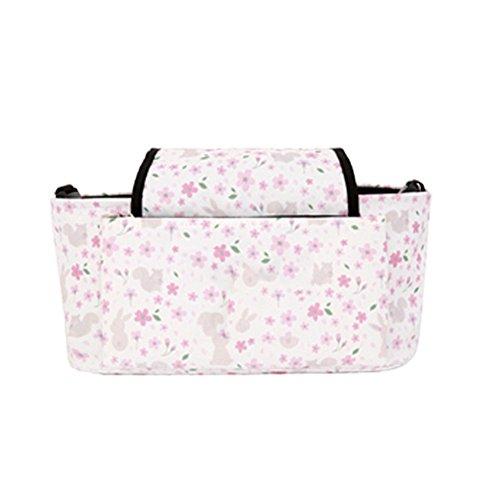 Samber Aufbewahrungswagen Tasche Mama Tasche für Baby Spaziergänger Baby Spaziergänger Haken Metall Hängehaken Blumen