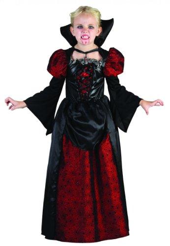 Costume da contessa vampiro per bambina Halloween 4/6 anni (104/116)