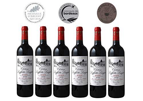 CHATEAU LAFFITTE LAUJAC - Grand Vin Rouge Bordeaux - Cru Bourgeois in 1932- AOP Médoc 2015-6 bottles Pack