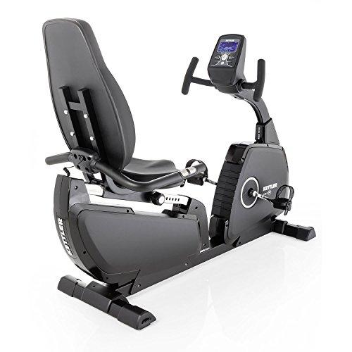 Kettler Heimtrainer Fahrrad AXOS Cycle P-LA – tiefer Einstieg – mit 12 Programmen und 16 Stufen – idealer Hometrainer mit Trainingscomputer – inkl. Handpulssensoren – schwarz & anthrazit