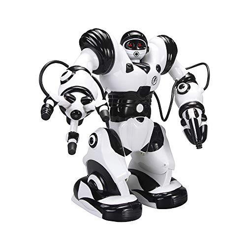 ACOC Inteligente RC Robot Juguete Control Remoto Gesto Robot Kit con Programación Intelectual, Cantando Y Bailando Robots Recargables Multifuncionales para Niños, Regalo De Juguete para Niños