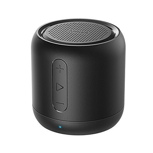 Anker SoundCore mini Bluetooth Speakers 5W with 15-Hour Playtime, Super-portable Wireless Speaker with 66-Foot Bluetooth Range, FM Radio, Enhanced Bass (Black)