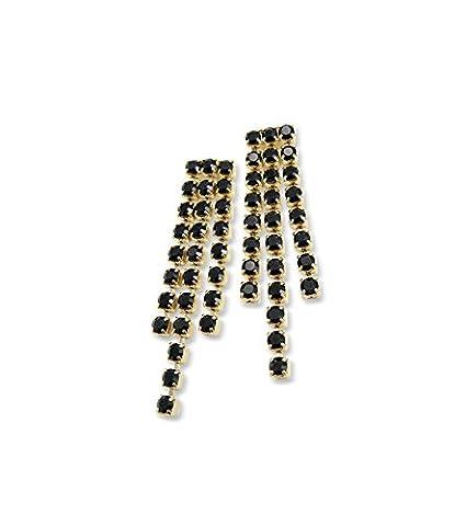 Black Crystal Earrings - Special Jet Fancy Drop Earrings - Swarovski Earrings - Diamante Earrings - Silver Plated/Pierced