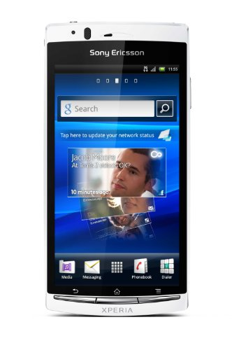 Sony Ericsson Xperia arc S Smartphone (10.7 cm (4.2 Zoll) Touchscreen, 8.1 Megapixel Kamera, Android 2.3 OS, 1GB Speicher) pure white
