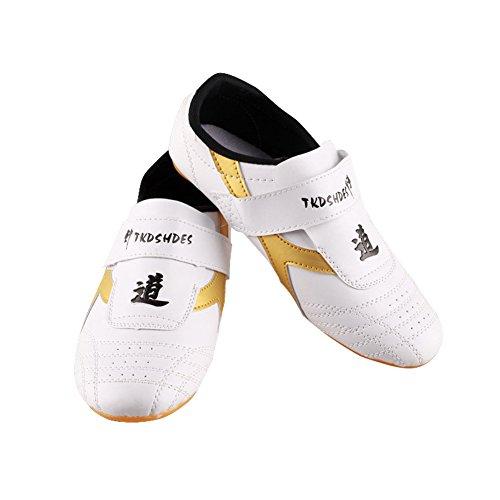 Zapatillas de Taekwondo Cómodos Antideslizantes Zapatillas Deportivos de Taekwondo Kung Fu Tai Chi ( tamaño : 43 )