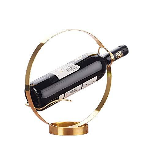 kreative runde metall eine einzelne flasche wein rack tabletop wein inhaber regale, gold -