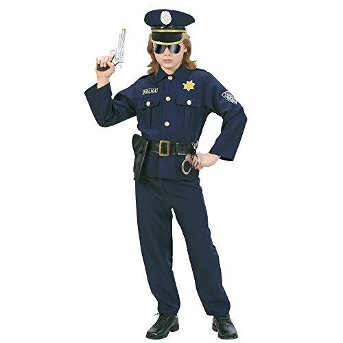 Kostüm Kinder Wachmann - Widmann 73165 Kinderkostüm Polizist, 116 cm