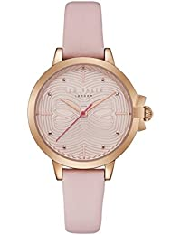 Ladies Womens Rose Gold Tone Ted Baker Quartz Battery Watch on Pink Leather  Strap d9b206f9d