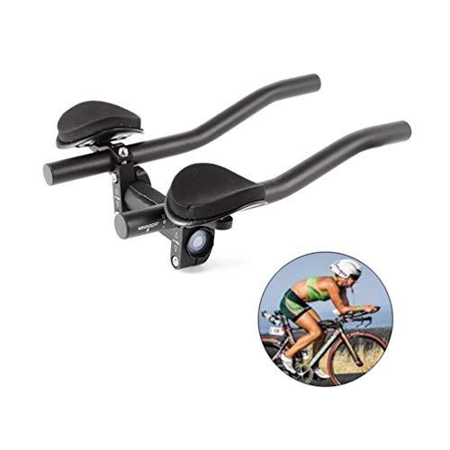 Vélo Reste Guidon Vélo En Alliage d'Aluminium Bras Reste Guidon Triathlon Aero Vélo Tri Bars Relaxeling Guidons pour Vélo de Route et VTT