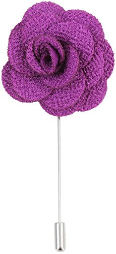 Lila Blumen-Revers Pin von David Van Hagen
