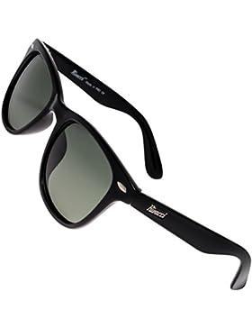 Rivacci - Gafas de sol polarizadas, diseño wayfarer (incluye funda y gamuza)