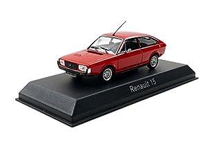 Norev-Maqueta de Renault 15TL-1976(Escala 1/43, 511504, Rojo