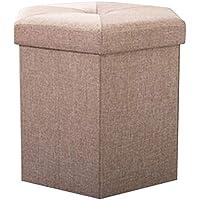 Almacenamiento taburete de almacenamiento taburete puede sentarse personas taburete de tela taburete ropa multifuncional caja de almacenamiento de juguete Multi-color opcional Tamaño 40 * 35 * 35 cm
