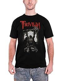 Trivium T Shirt Sun Warrior Band Logo Distressed Official Mens Black